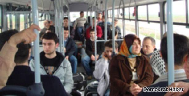 Otobüste 'selfie' dayağı