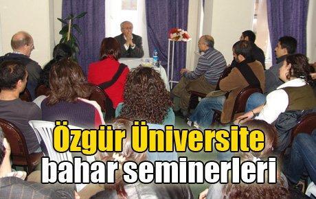 Özgür Üniversite bahar dönemi seminerleri başlıyor