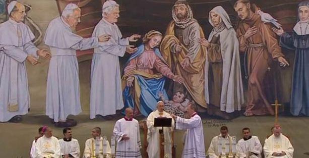 Papa Filistin'de barış mesajları verdi