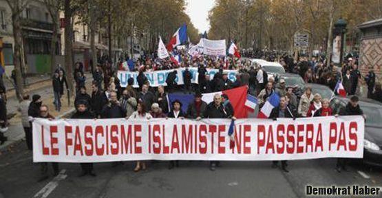 Paris'te İslam karşıtı yürüyüş