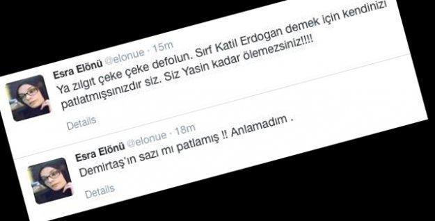 Patlama sonrasında 'yandaş' gazeteciden ırkçı ifadeler: Zılgıt çeke çeke defolun