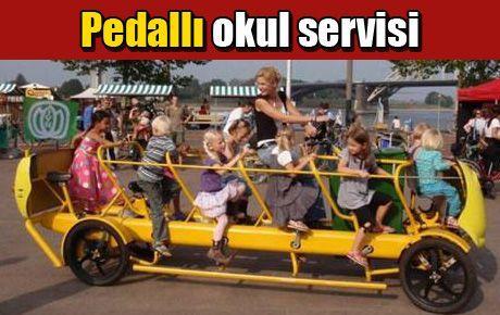 Pedallı okul servisi
