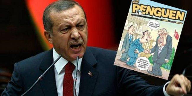 Penguen çizerlerine 'Erdoğan'a hakaret'ten 2 yıl hapis istemi