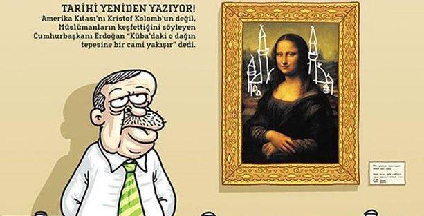 Penguen, Erdoğan'ı kapağına taşıdı