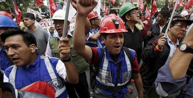 Peru'da maden işçileri ayaklandı