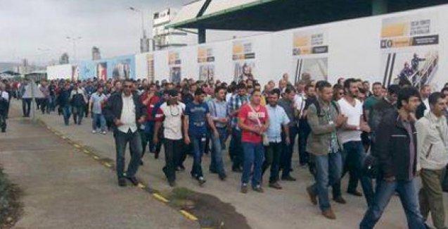 PETKİM işçileri de eyleme başladı