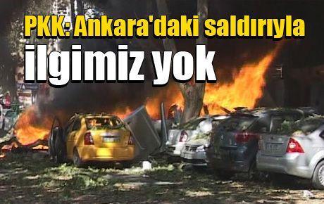 PKK: Ankara'daki saldırıyla ilgimiz yok