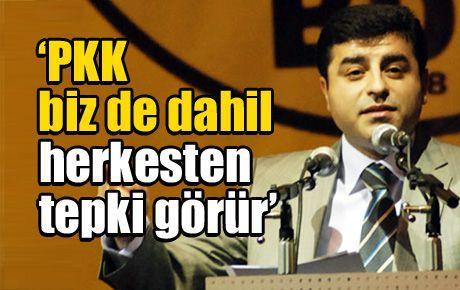 'PKK biz de dahil herkesten tepki görür'