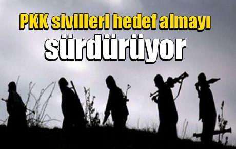 PKK sivilleri hedef almayı sürdürüyor