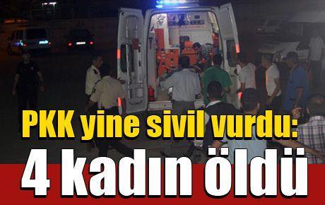 PKK yine sivil vurdu: 4 kadın öldü