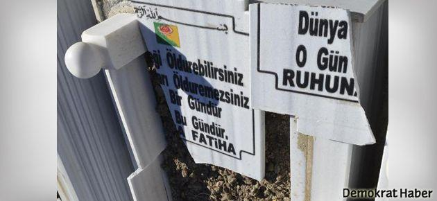 PKK'lilerin mezarlarına saldırı