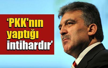 'PKK'nın yaptığı intihardır'