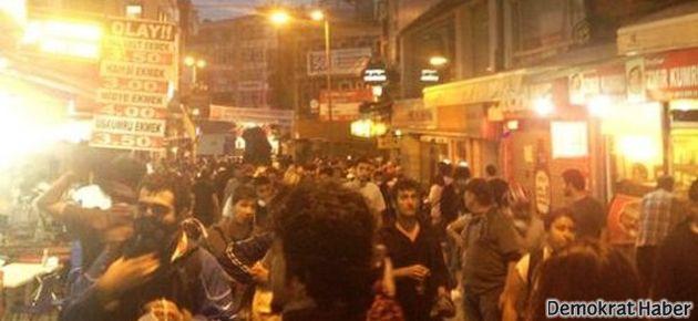 Beşiktaş'ta polis saldırısı yeniden başladı
