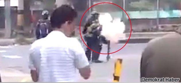 Polis biber gazıyla kendisini vurdu