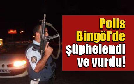 Polis Bingöl'de şüphelendi ve vurdu!