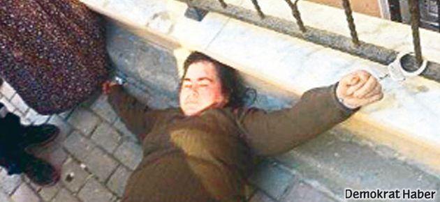 Polis engelli kadını demire kelepçeledi