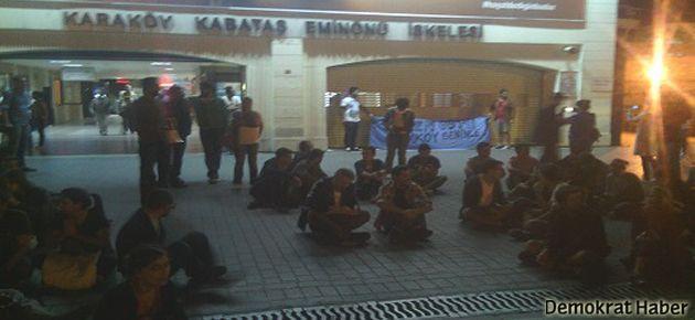 Polis saldırıları durana kadar süresiz eylem