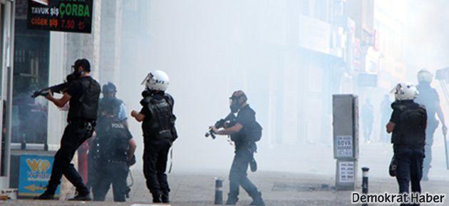 Polis saldırısı Halaskargazi'de yeniden başladı