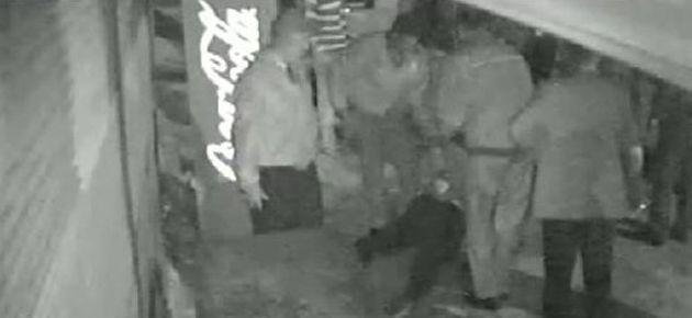 Polis şiddeti kameralara yansıdı