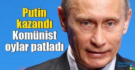 Putin kazandı Komünist oylar patladı