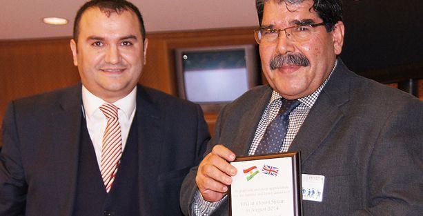 PYD lideri Salih Müslim'e ödül