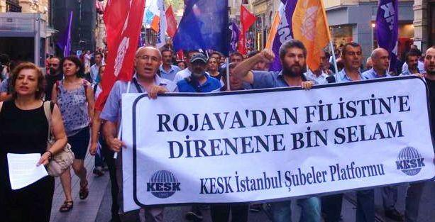 'Rojava'dan Filistin'e Direnene Bin Selam!'