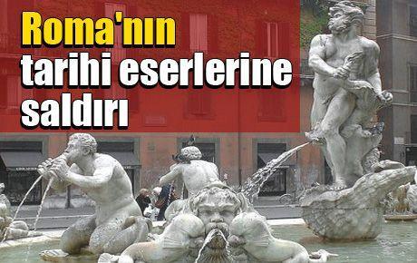 Roma'nın tarihi eserlerine saldırı