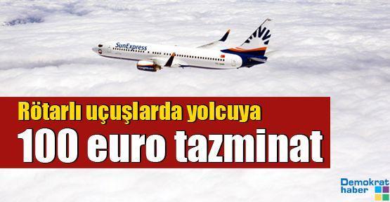 Rötarlı uçuşlarda yolcuya 100 euro tazminat