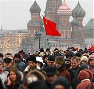 Rusya'da 10 binler sokaktaydı