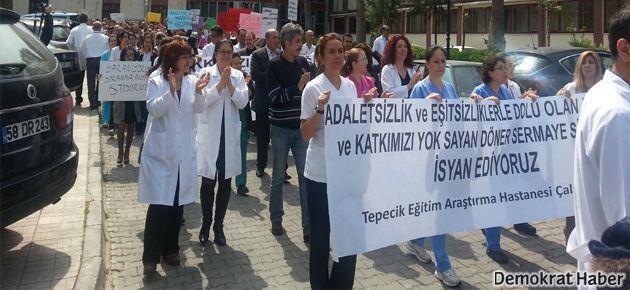 Sağlık çalışanlarından döner sermaye isyanı
