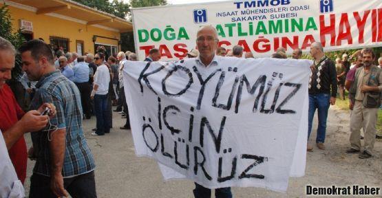 Sakarya'da darağaçlı protesto