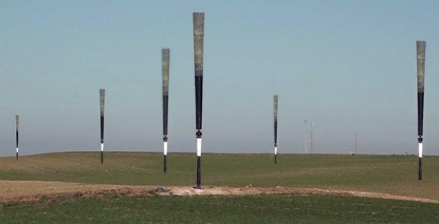 Sallanarak elektrik üreten rüzgar türbini yapıldı