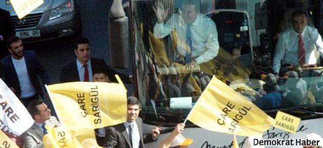 Sarıgül, CHP bayraklarıyla tura çıktı