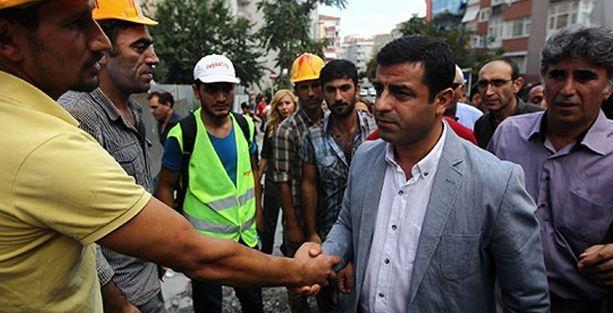 Demirtaş: İşçi güvenliği için tedbir almayan devlet TOMA ile patron koruyor