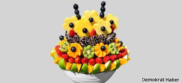 Sevgiliye Hediye Meyve Buketi