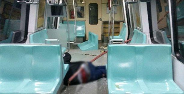 Seyrantepe metroda kaza: Demir parçası yolcuya saplandı