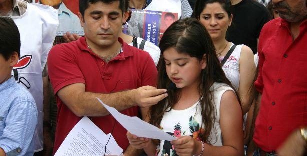 Siirtli çocuklar yaşam haklarına saygı istedi