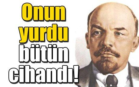 Şimdi de Lenin'in kökenine taktılar