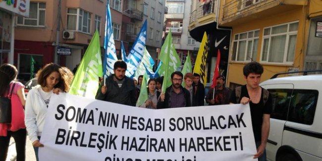 Sinop'ta Soma eylemine katılanlara soruşturma açıldı