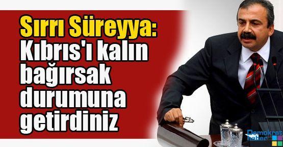 Sırrı Süreyya: Kıbrıs'ı bu ülkenin kalın bağırsağı durumuna getirdiniz