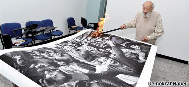 Sivas'ı 'unutmamak' için eserlerini yaktılar