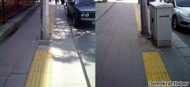 Sokaktaki engeli belgele: Buradaengellendim.com