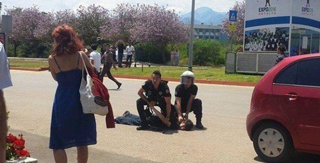 Soma protestosunda öğrencilere polis şiddeti
