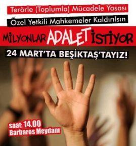 'Söz, Eylem, Örgütlenme ve Basın Özgürlüğü İstiyoruz