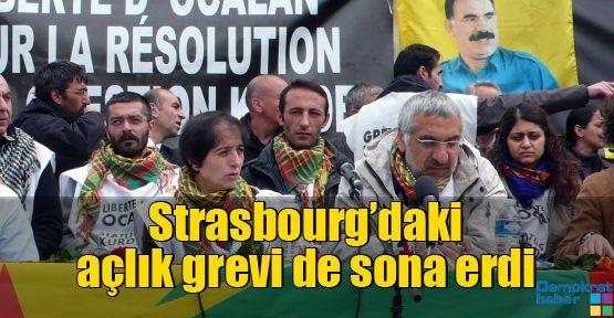 Strasbourg'daki açlık grevi de sona erdi