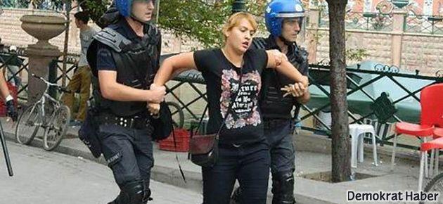 Suat Kılıç'ı protesto eden gruba polis müdahalesi