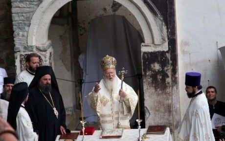 Sümela Manastırı'ndaki ayin başladı
