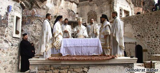 Sümela Manastırı'ndaki ayin sona erdi