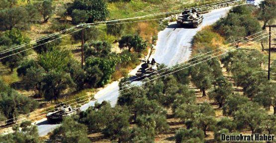 Suriye de sınıra tank yığdı