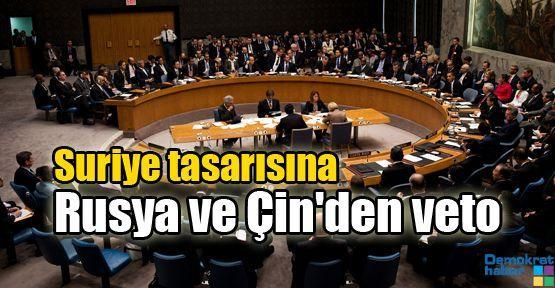 Suriye tasarısına Rusya ve Çin'den veto
